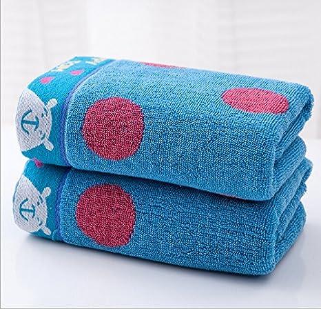 Toallas de licitación de oso para toallas de mano para niños toallas de algodón y regla de 6 pcs: Amazon.es: Hogar