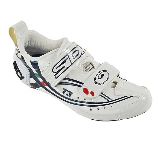 T-3 Carbon Composite Triathlon Shoes White/Blue EU40