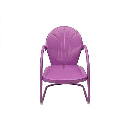 Amazon.com: Púrpura Retro Metal Silla Tulip: Jardín y Exteriores