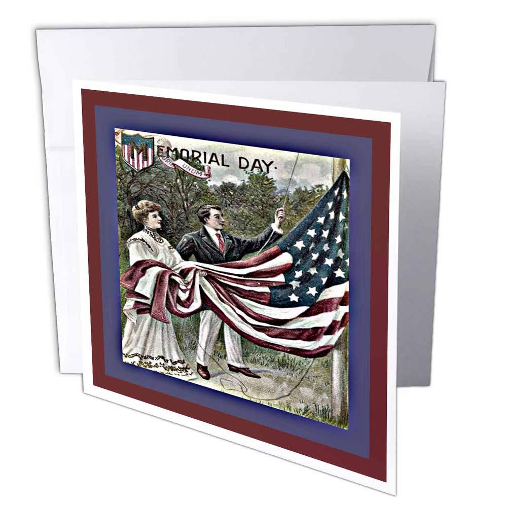 3dRosa gc_14794_1 Grußkarte Memorial Day Flagge , 15 x 15 15 15 cm, 6 Stück B07BJCDWTM | Online-Shop  bf5240