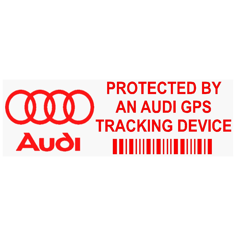 5 x ppaudigpsred GPS rot Tracking Gerä t Sicherheit Fenster Aufkleber 87 x 30 mm-car, Van Alarm Tracker Platinum Place