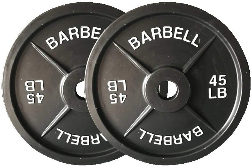 45lb Weight Plates – Fake Weights Olympic Style 45 lb Barbell Plates