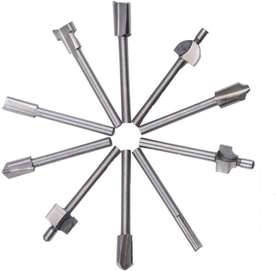 kompatibel mit Dremel-Drehwerkzeugen 0,8 cm Schaft Titanbeschichtung Yakamoz Fr/äsbohrer-Set Hartmetall-Gravur Bohren Fr/äser Trimm-Bits f/ür DIY-Holzbearbeitung Schnitzen