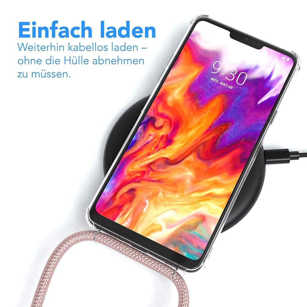 Housse pour Smartphone Lanyard Case Holder YuhooTech Collier pour OnePlus 6 Coque Cover Necklace Bandouili/ère Styl/ée /étui de t/él/éphone avec Cordon Tour de Cou Lani/ère en Corde