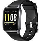 Letsfit Smart Watch, Fitness Trackers with Heart Rate Monitor, Activity Tracker Pedometer, 1.3 Inch Color Screen Step…