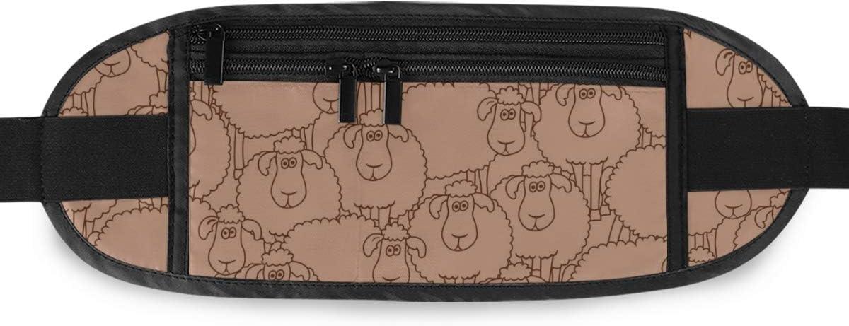 Pattern Fun Cartoon Sheep Can Running Lumbar Pack For Travel Outdoor Sports Walking Travel Waist Pack,travel Pocket With Adjustable Belt