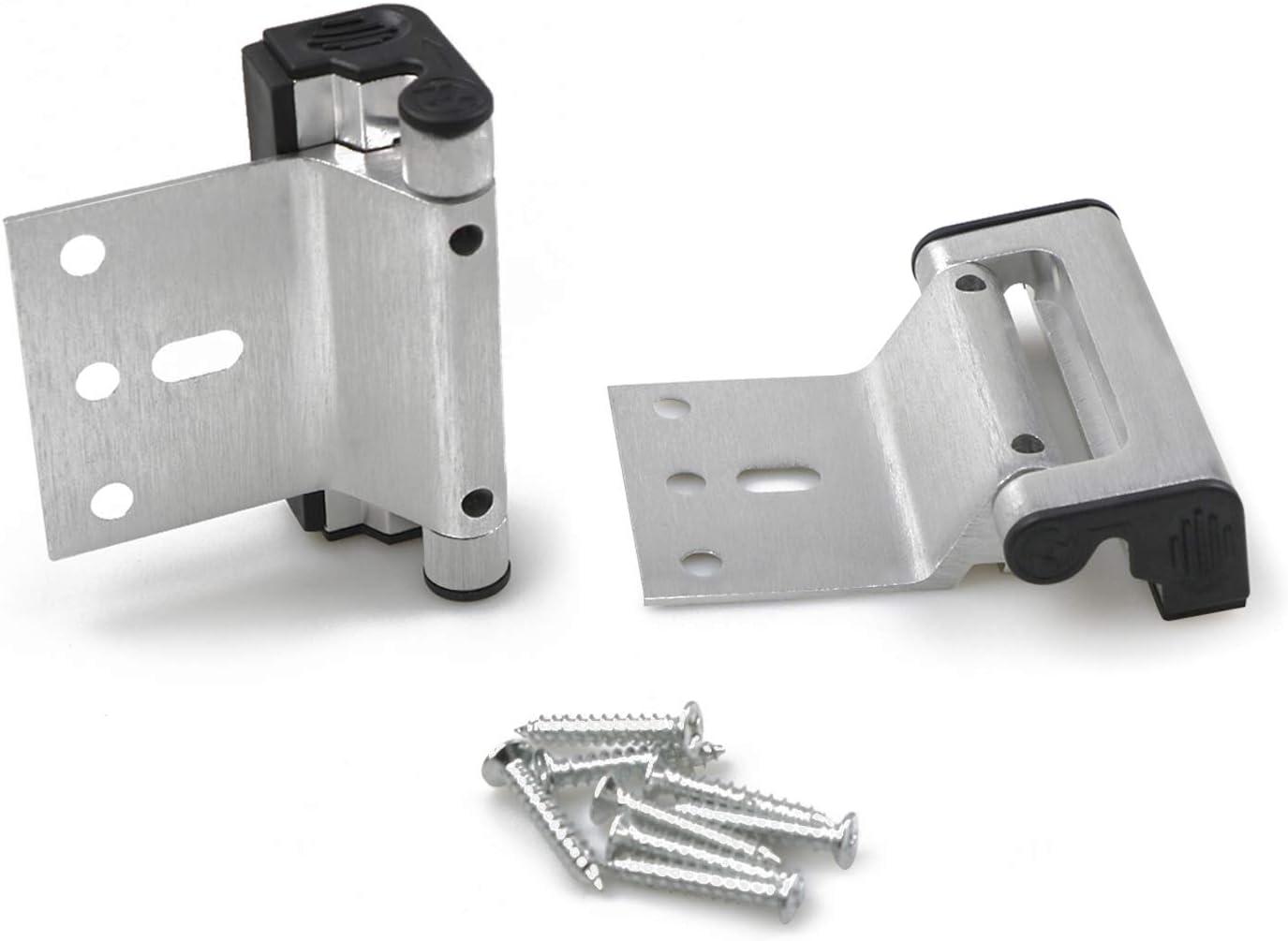 HoneSecur 2 Pack Upgraded Door Reinforcement Lock, Home Security Childproof Lock with 8 Screws Stop Withstand 800lbs for Inward Swinging Door - Silver