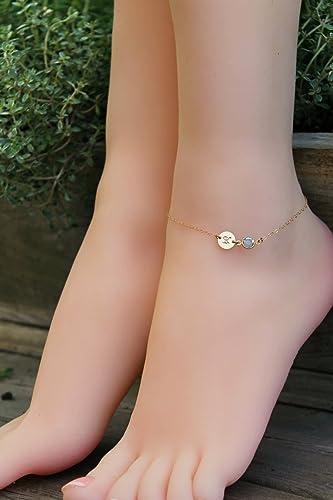 b07f948d7 Amazon.com  ANKLET personalized ankle bracelet