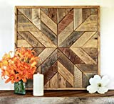 Cheap Reclaimed wood star quilt block wall art – 26 inch