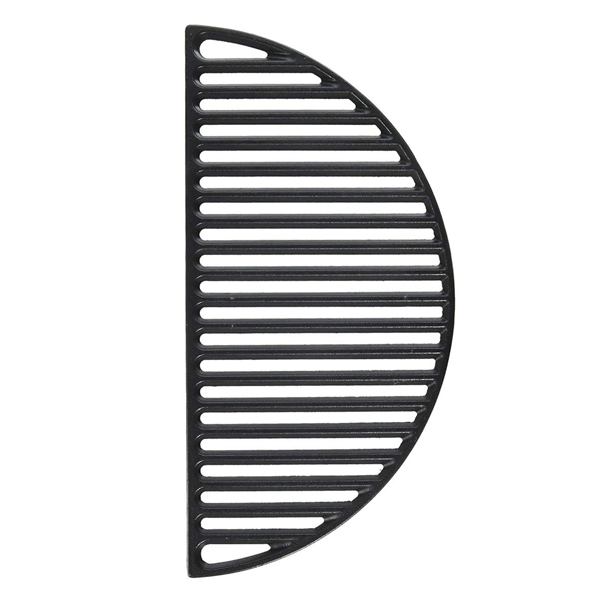"""22"""" Half Moon Cast Iron Divide & Conquer Cooking Grate fit for Classic Joe Reversible Grate for XLarge Big Green Egg or any 22 Inch Kamado Grill Barbeque Accessories for Searing"""