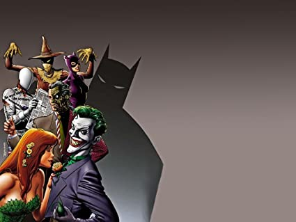Posterhouzz Comics Batman Joker Poison Ivy Two Face Scarecrow HD Wallpaper Background Fine Art Paper Print