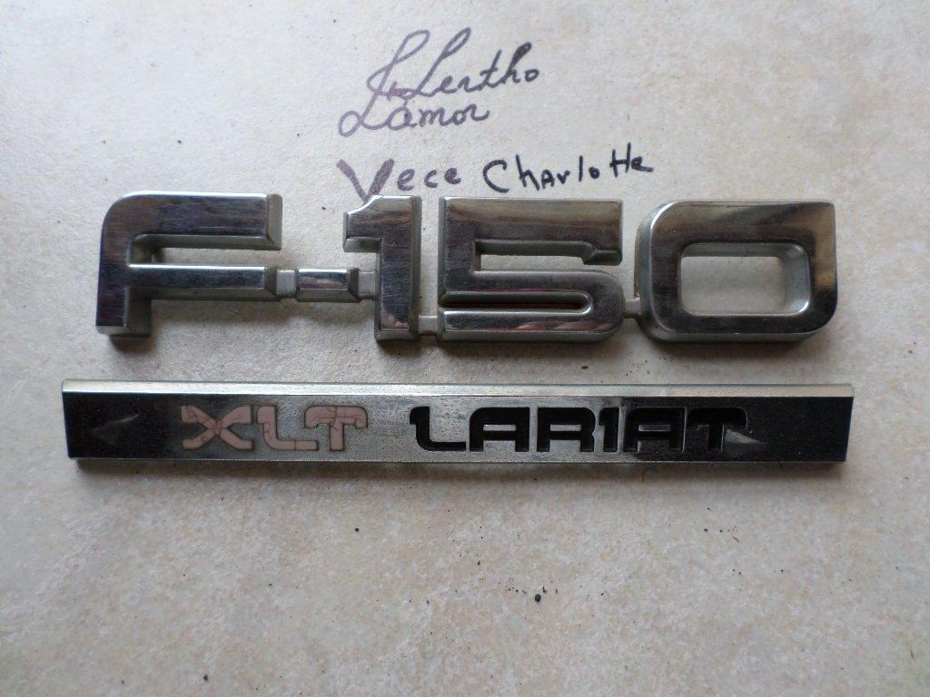 87 91 Ford F 150 Xlt Lariat Side Fender E8tb 16b114 Aa 1991 Emblem E7tb 16702 D0 Badge Logo Set Of 2 Automotive