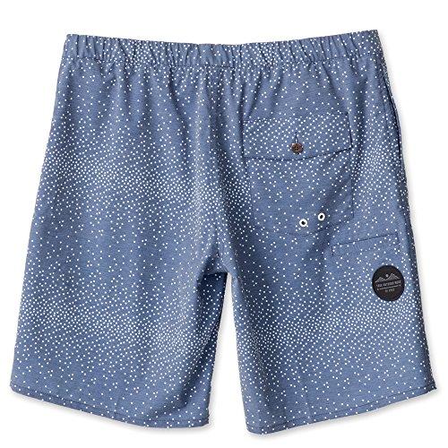KAVU Men's Sea Legs Shorts, Navy Dots, X-Large