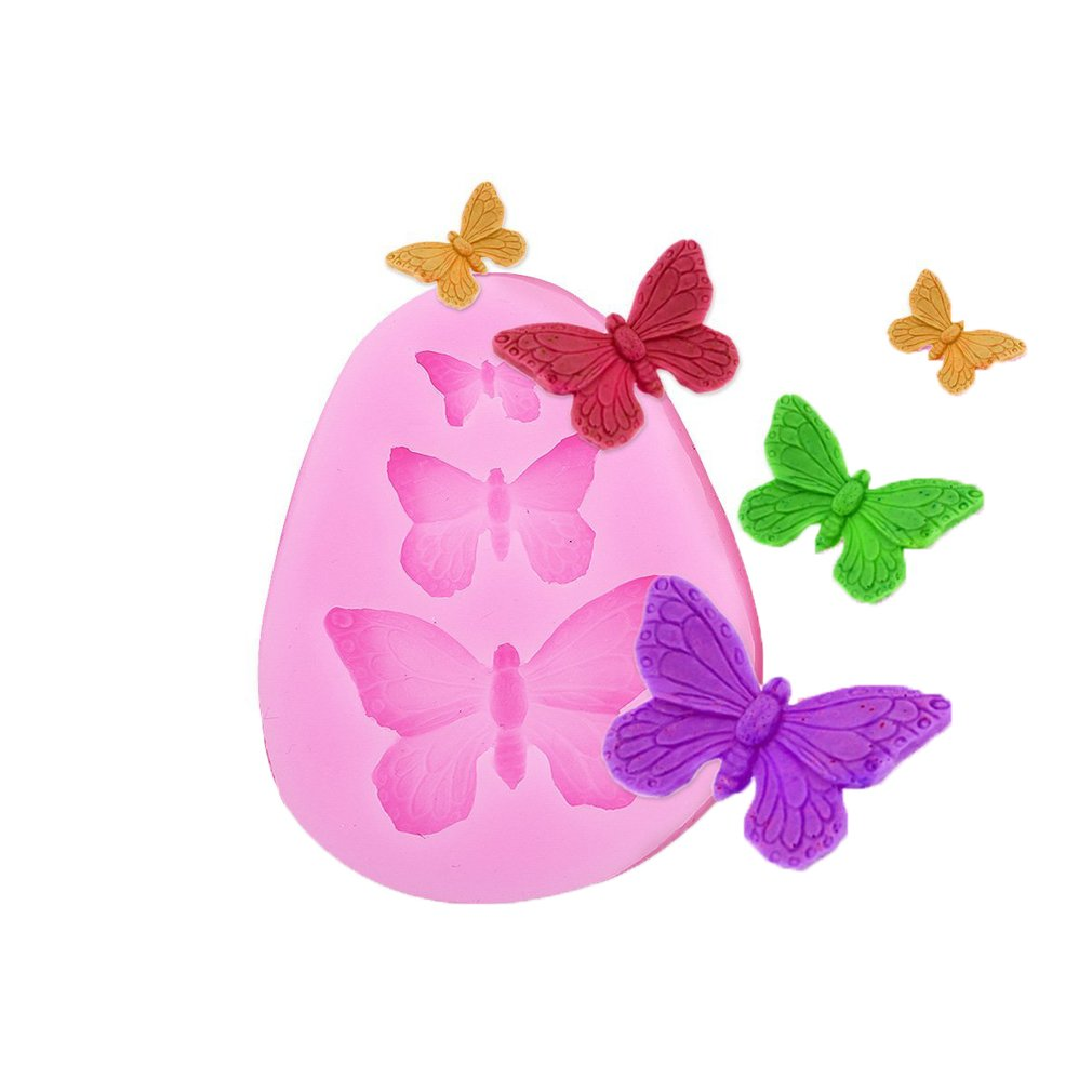 Lalang Little Bear Silicone 3D Lovely Fondant Cake Molds Kitchen Baking Tool Chocolate Mould Model Butterfly