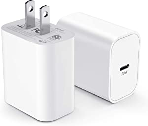 iPhone 12 Charger Block MFI Certified 2Pack 20W Fast USB C Wall Charging Power Adapter Plug for Apple iPhone 12/12 Mini/12 Pro/12 Pro Max/ 11/11 Pro/11 Pro Max/iPad Pro USB-C Charge Brick