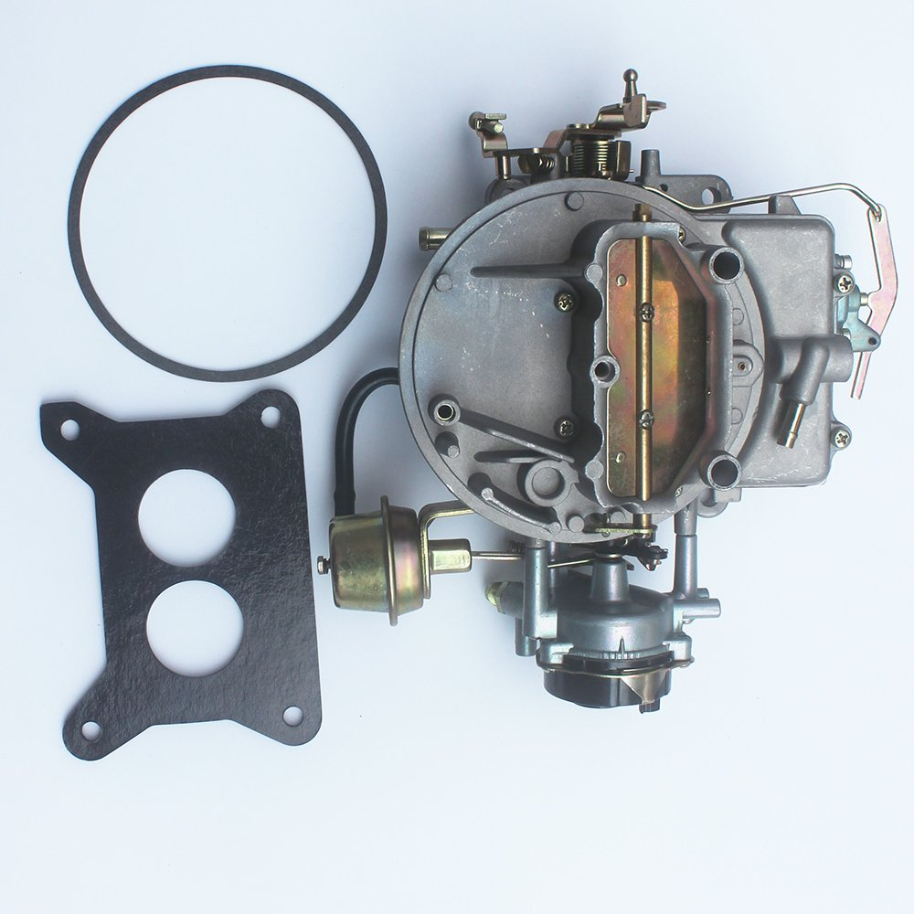 KIPA Carburetor For Ford F150 F250 F350 Mustang Comet 289Cu 302Cu 351Cu Engine 351 302 289 Jeep Wagoneer 360Cu Engine 2100 A800 2-Barrel Carb Carburetor With Mounting Gasket