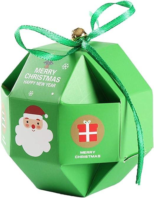 CAVIVI Caja de Papel de Navidad 3D Cajas de Regalo Fruta Dulces ...
