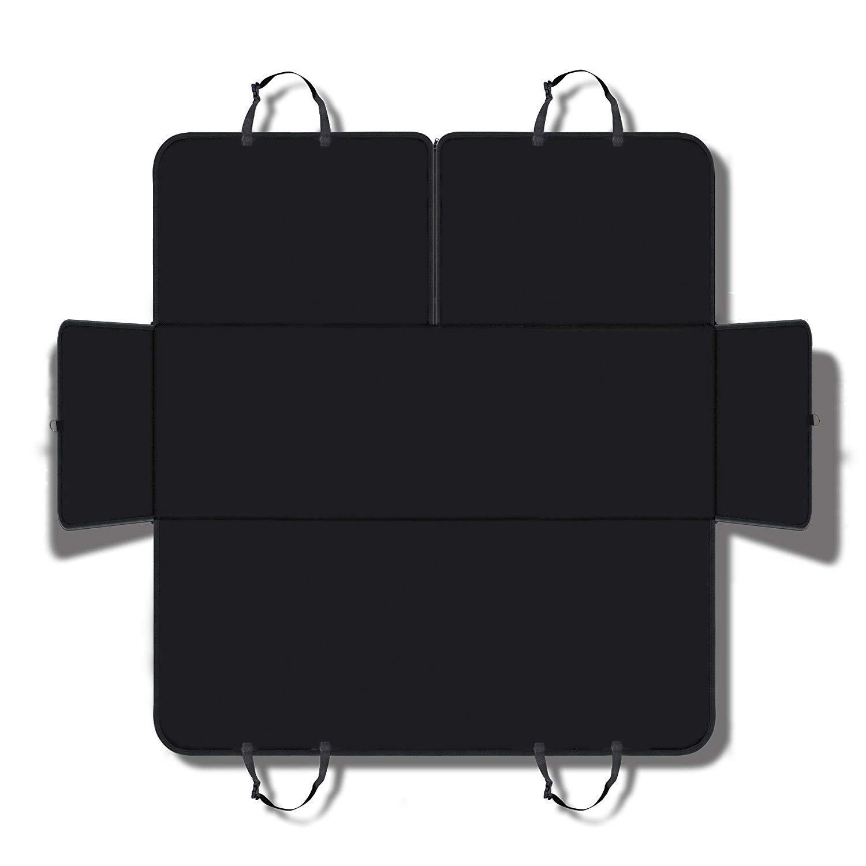 Housse de siège ELOKI pour chien et animal domestique - Protection pour siège arrière - Design universel pour tout type de voiture, camion et SUV - Noire