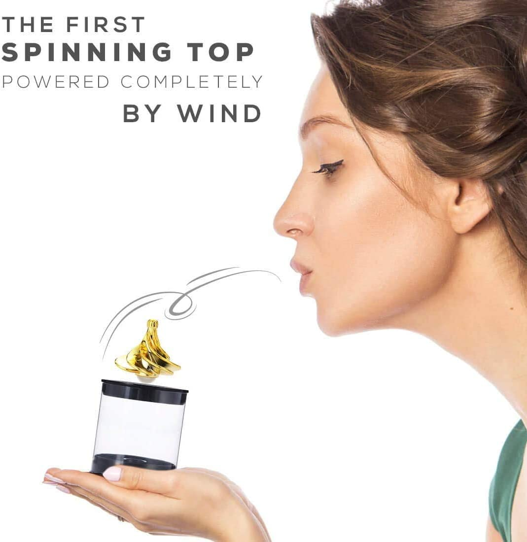 Wind Gyro Based Spinning Tops for Kids and Adults - The Original Tornado Tops A Unique Gift Spinning Top Wind Gyro Wind Blow Turn Gyro Stress Relief Toy for Kids and Adults