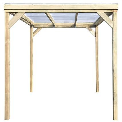 Festnight - Cobertizo de madera para jardín con techo de leña para almacenamiento de herramientas (