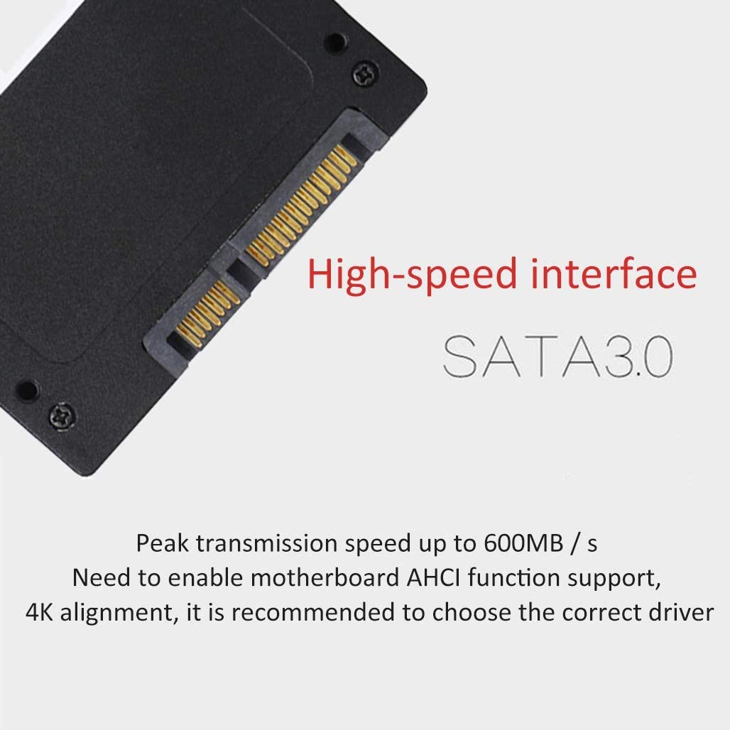 HWENJ SSD 256GB 3D NAND TLC Cache Performance Boost 2.5 SATA III 7mm Internal Solid State Drive,Serial 120 GB SATA3 Solid State Drives Internal 6gb//s Metal Case Cache Controller