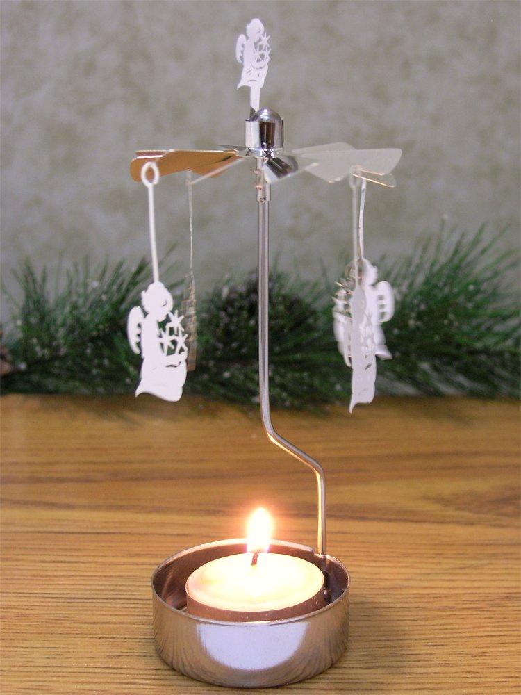 """Spinning Angels Candle Holder Silver Scandinavian Design"""