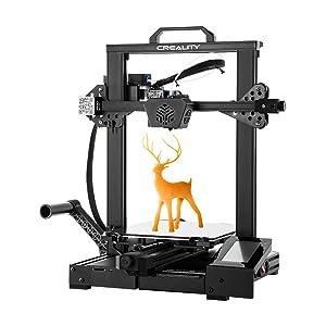 Imprimante 3D Creality CR-6 Se, Carte Mère Silencieuse sans Nivellement, Alimentation Meanwell, écran Tactile, Plaque en Verre Trempé et Double Axe Z Taille d'impression 235x235x250mm
