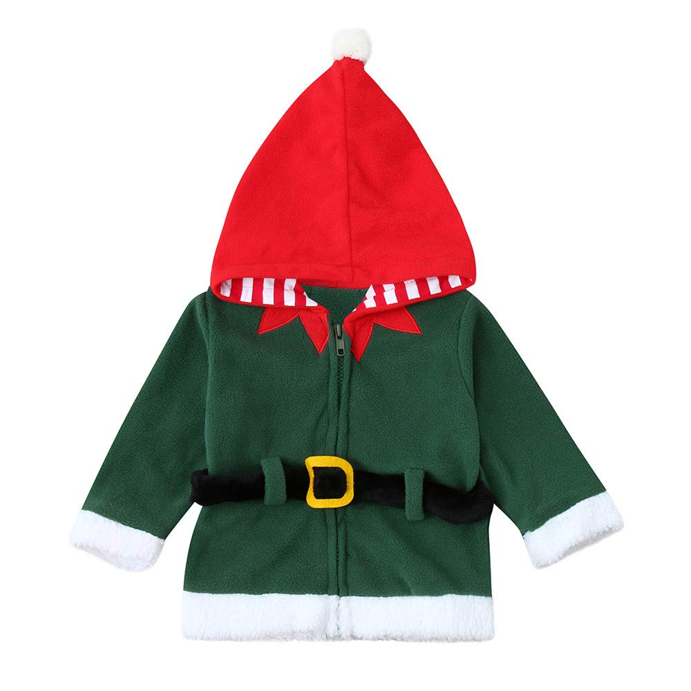Anxinke Baby Boys Girls Christmas Soft Belted Hooded Coat