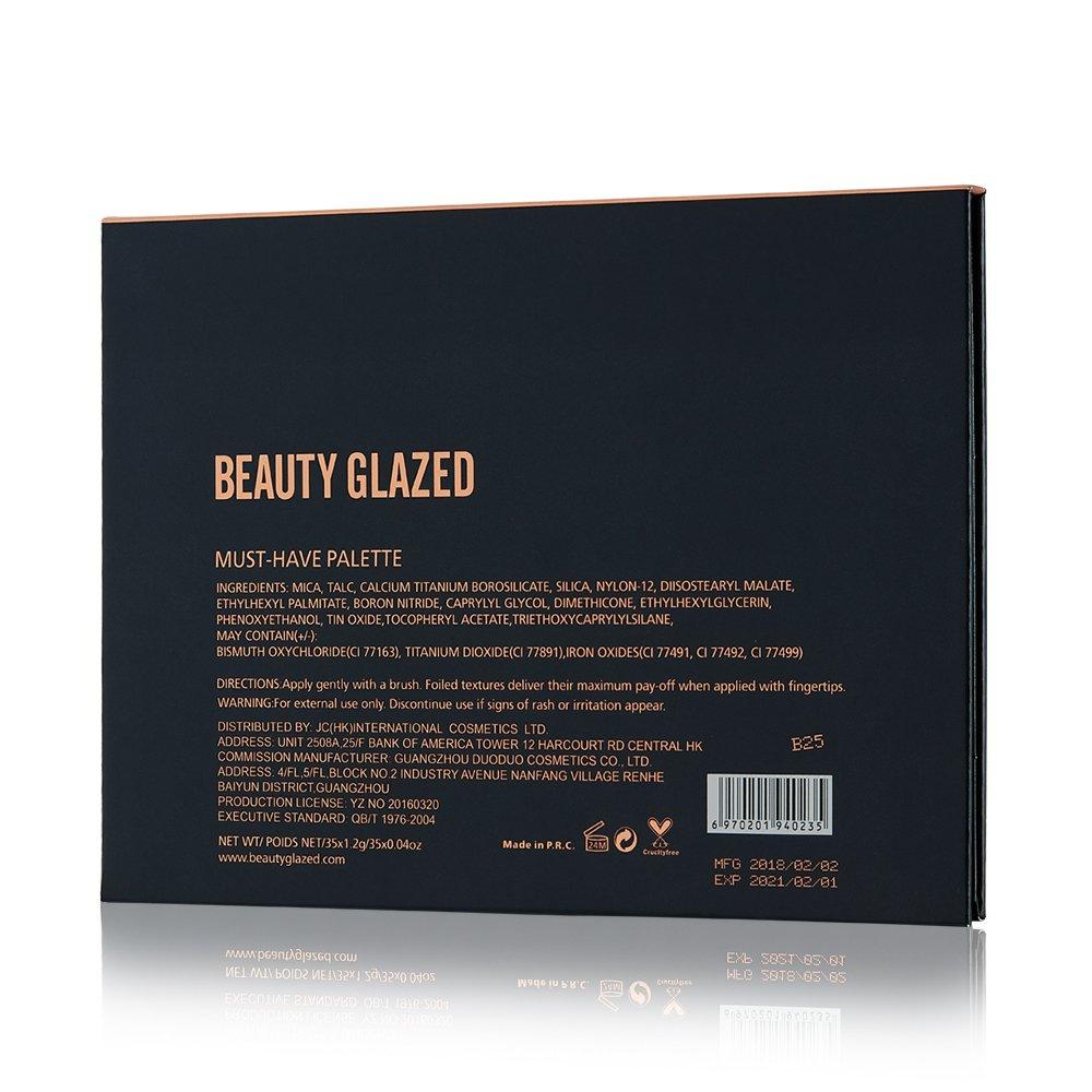 BEAUTY GLAZED 35 Color Matte Eyeshadow Pressed Eye Shadow Palette Jaclynhill Earth Warm Color Shimmer Matte Eyeshadow Palette 39a