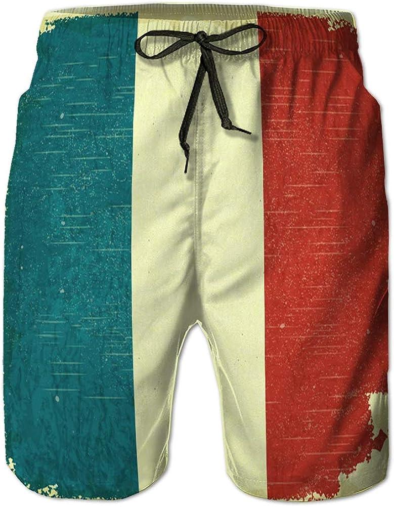 Yuerb Bañador de Hombre Cintura elástica Trajes de baño Bandera Francesa