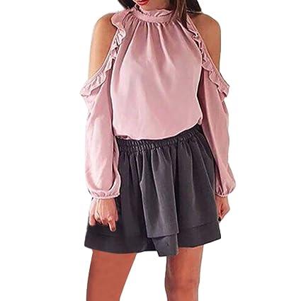Camisa para Mujer, BBestseller Blusa Suelta de Manga Larga para Mujer,Moda Mujer Cuello
