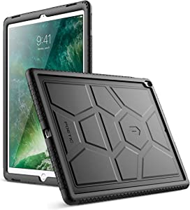 Poetic TurtleSkin iPad Pro 12.9 Rugged Case Heavy Duty Protection Silicone Sound-Amplification for Apple iPad Pro 12.9 (1st Gen 2015) / iPad Pro 12.9 (2nd Gen 2017) Black