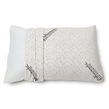 cr sleep shredded memory foam pillow with bamboo cover queen