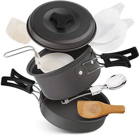 StyleBest - Batería de cocina de camping antiadherente con ...