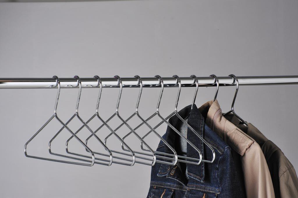 KRH25 Heavy Duty Chrome Coat Hangers (Pack Of 25): Amazon.co.uk: Office  Products