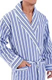 Alexander Del Rossa Mens Cotton Robe, Lightweight