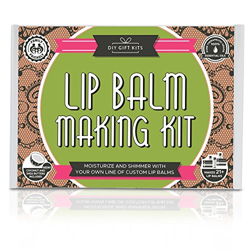 DIY Lip Balm Kit, (73-Piece Set) Homemade, Natural and Organic | Includes Tubes, Beeswax Pouch, Essential Oils, Labels, Stir Sticks & More