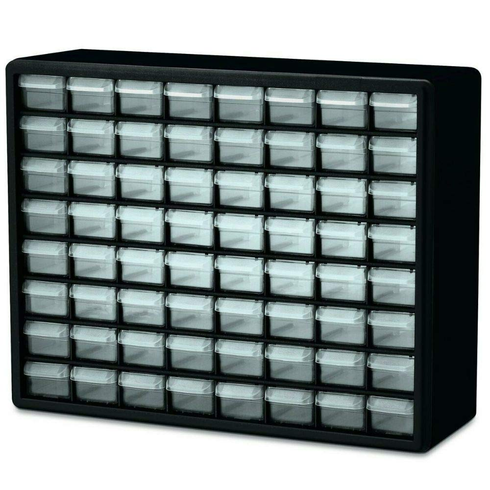 64 Drawers Storage Organizer Cabinet Plastic Drawer Parts Hardware Container Bin Toy Garage by Unknown