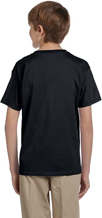 d43a7e5d3 50/50 ComfortBlend EcoSmart T-Shirt. Hanes boys ComfortBlend EcoSmart  Crewneck(5370)-BLACK-XS
