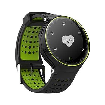 OOLIFENG Pulseras inteligentes Impermeable Presión sanguínea Reloj Bluetooth Monitor de pulso cardiaco SmartBand Natación IP68 para hombres mujeres , Green: ...