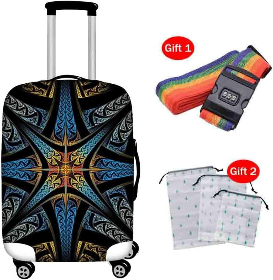 Suitcase Cover Polyester Spandex Thick Wear-Resistant Protective Cover Pull Bar Box 18-30 Inch Breathable Waterproof Dust Cover