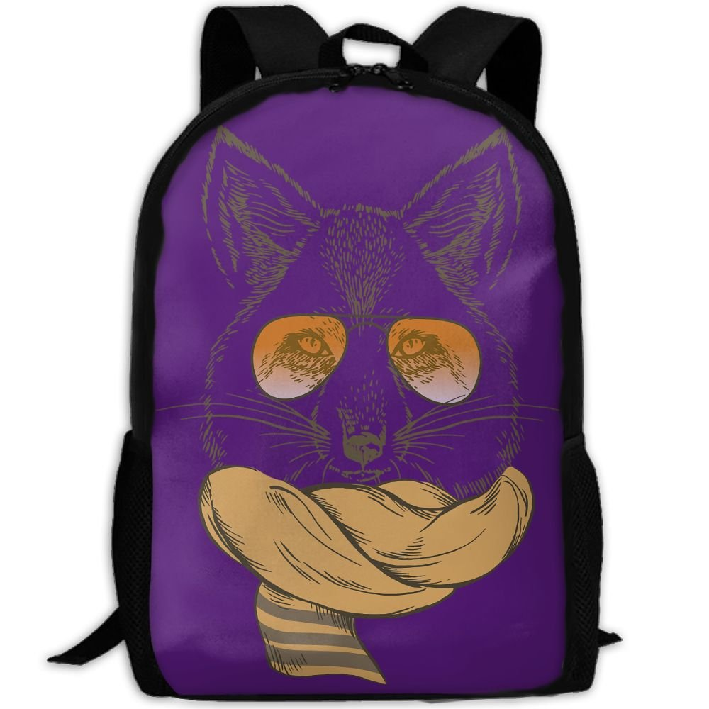 Cat Sir Double Shoulder Backpacks For Adults Traveling Bags Full Print Fashion