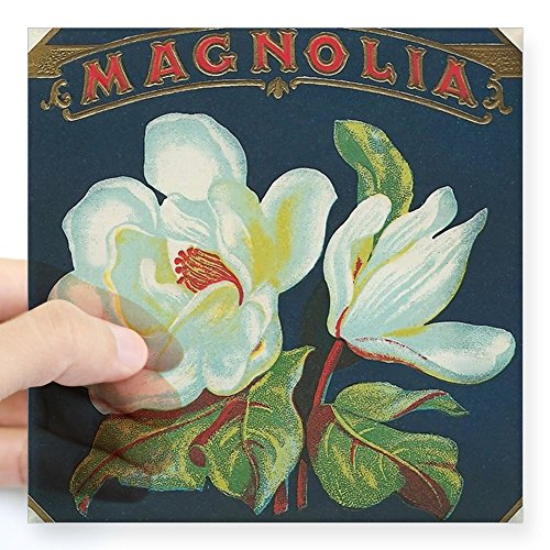 CafePress - Magnolia Antique Cigar Labe Square Sticker 3