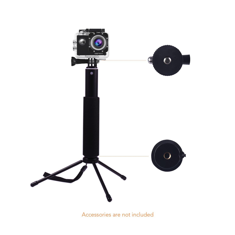 APEMAN SS150 Palo Selfie, Palo de Autofoto Extensible para Cámara Deportiva, Negro