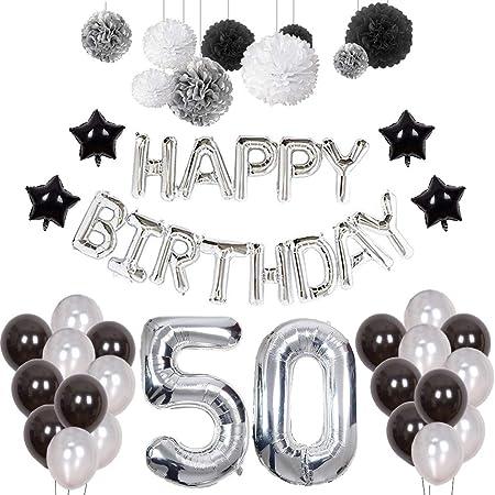 Globos de confeti eimi para decoración de 50 cumpleaños para ...