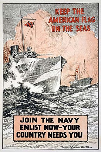 Keep the American flag on the seas Join the Navy--Enlist now-your country needs you 12x18 Giclee On Canvas - Buyenlarge Flags