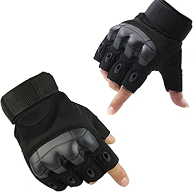 Cycling Half Finger Gloves Riding Driving Protective Hand Gear Knuckle Accessory