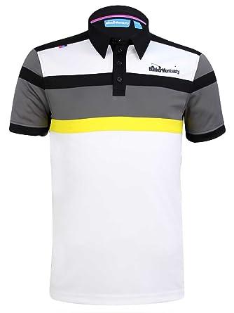 dc6db527 Bunker Mentality Cmax Bright Stripe Tech Golf Polo Shirt - Grey - XS