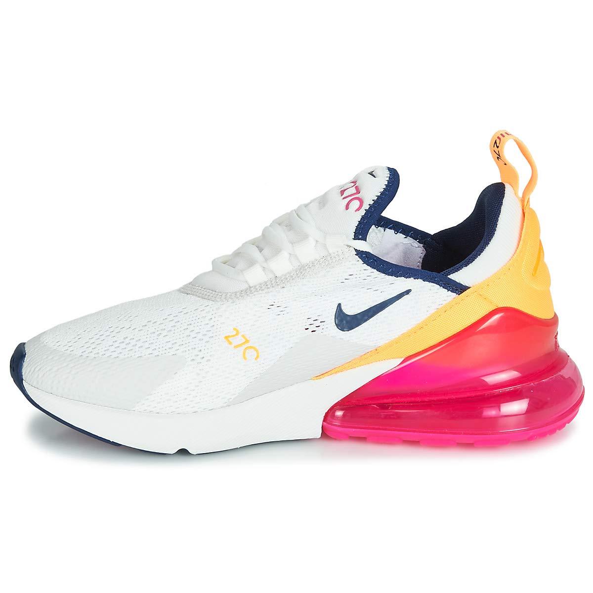 Nike W W W Air Max 270 scarpe da ginnastica Bianco Arancio rosa AH6789-106 (41 - Bianco) 953c54