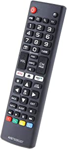 AKB75095307 Replace Remote for LG TV 43UJ6300 43UJ6050 43UJ6350 49UJ6300 49UJ6050 32LJ550M 32LJ550M-UB 65UJ6300-UA 75UJ6520 55UJ6520 43UJ6200 49UJ6200 55UJ6200 65UJ6200 49UJ620M 43U